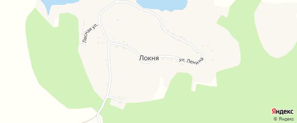 Заречная улица на карте села Локни с номерами домов