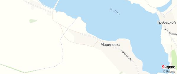 Карта села Мариновки в Белгородской области с улицами и номерами домов