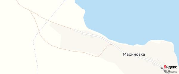 Речная улица на карте села Мариновки с номерами домов