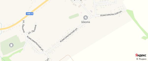 Комсомольская улица на карте села Стригуны с номерами домов