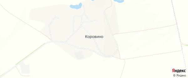 Карта села Коровино в Белгородской области с улицами и номерами домов