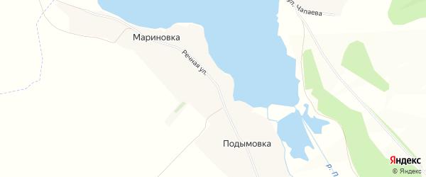 Карта села Подымовки в Белгородской области с улицами и номерами домов