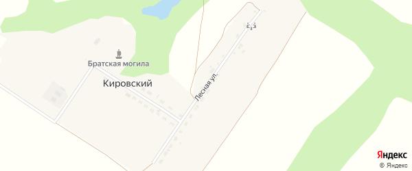 Лесная улица на карте Кировского поселка с номерами домов