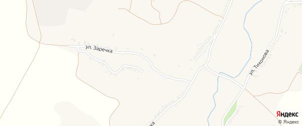 Улица Заречка на карте Новенького села с номерами домов