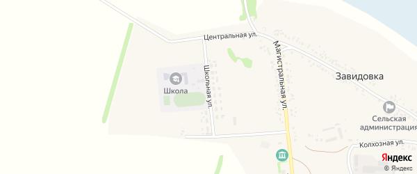 Школьная улица на карте села Завидовки с номерами домов