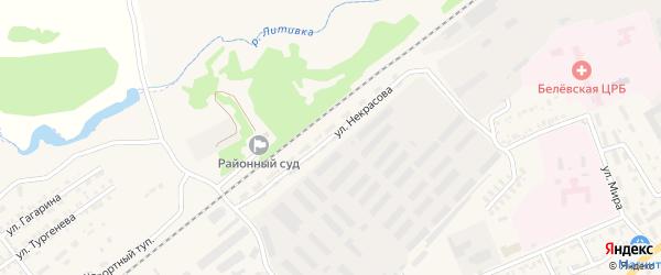 Улица Некрасова на карте Белева с номерами домов