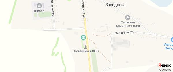 Магистральная улица на карте села Завидовки с номерами домов