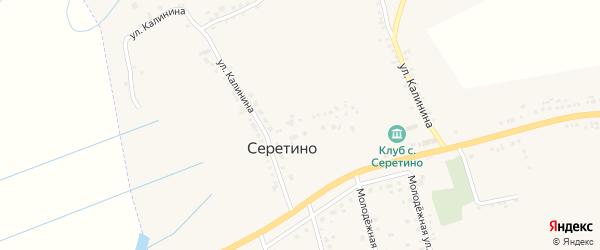 Улица Калинина на карте села Серетино с номерами домов