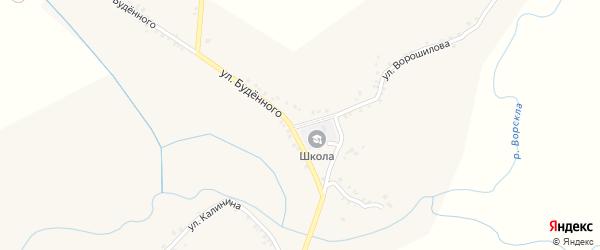Улица Ворошилова на карте села Серетино с номерами домов
