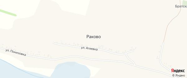 Улица Дубровка на карте села Раково с номерами домов