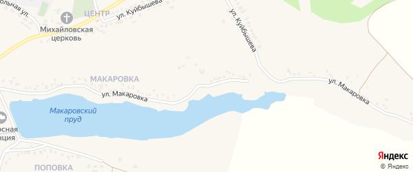 Улица Макаровка на карте Новенького села с номерами домов