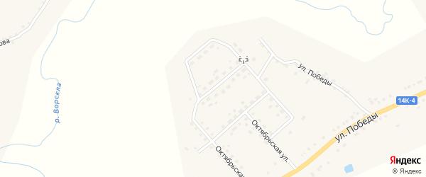 Пролетарская улица на карте села Серетино с номерами домов