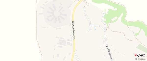 Шоссейная улица на карте села Бутово с номерами домов