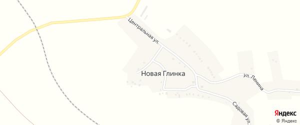 Садовая улица на карте села Новой Глинки с номерами домов