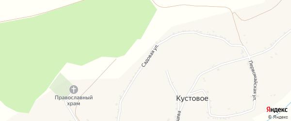 Садовая улица на карте Кустового села с номерами домов