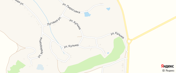 Улица Кульма на карте Черкасского села с номерами домов