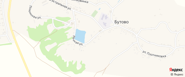 Речная улица на карте села Бутово с номерами домов