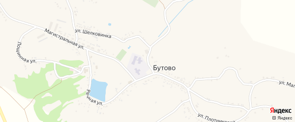 Улица Шелковинка на карте села Бутово с номерами домов