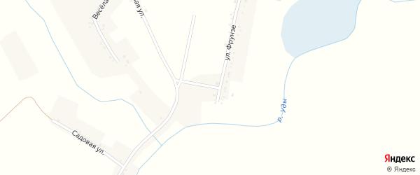 Улица Фрунзе на карте села Щетиновки с номерами домов
