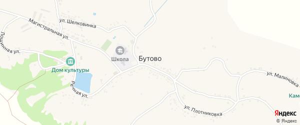 Лощинная улица на карте села Бутово с номерами домов