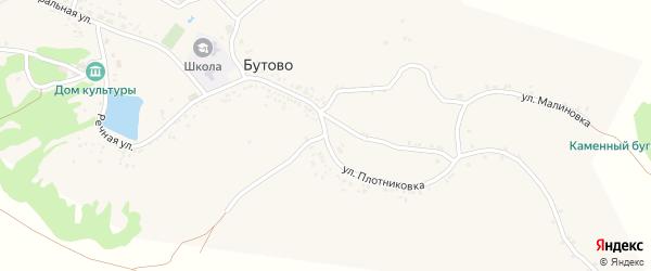 Центральная улица на карте села Бутово с номерами домов