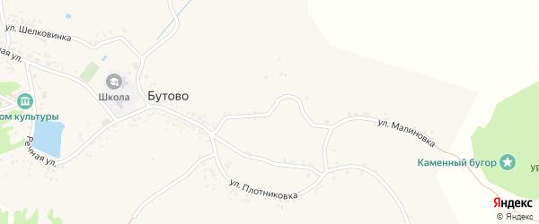 Улица Малиновка на карте села Бутово с номерами домов