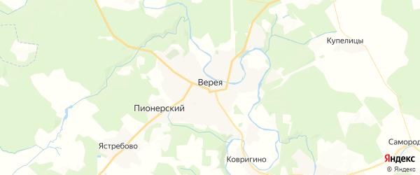 Карта Вереи с районами, улицами и номерами домов