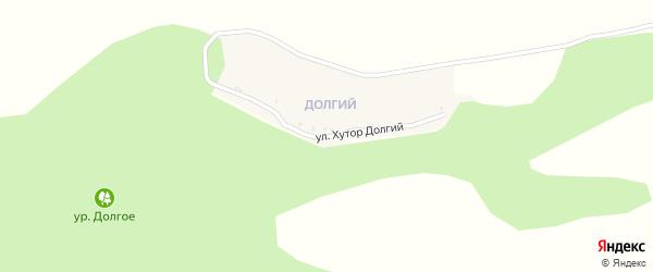 Улица Хутор Долгий на карте села Березовки с номерами домов