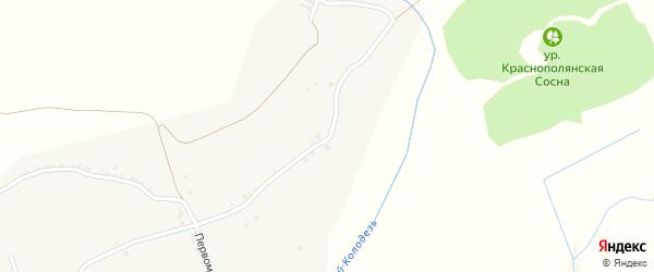 Новая улица на карте Кустового села с номерами домов