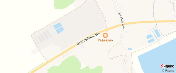 Шоссейная улица на карте села Курасовки с номерами домов