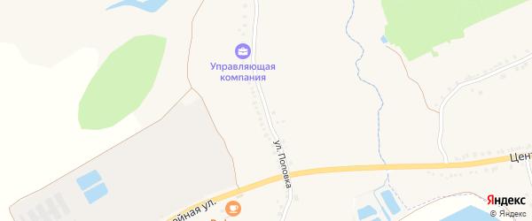 Улица Поповка на карте села Курасовки с номерами домов