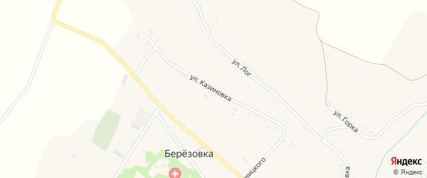Улица Казиновка на карте села Березовки с номерами домов