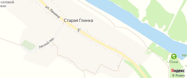 Улица Ленина на карте села Старой Глинки с номерами домов