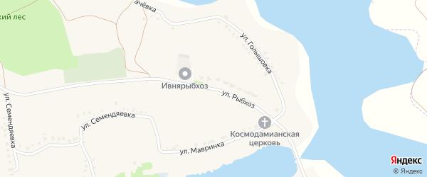 Улица Рыбхоз на карте села Курасовки с номерами домов