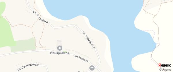 Улица Голышовка на карте села Курасовки с номерами домов