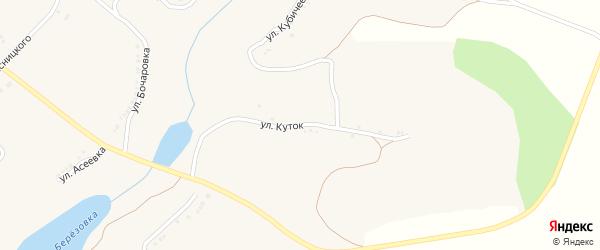 Улица Куток на карте села Березовки с номерами домов