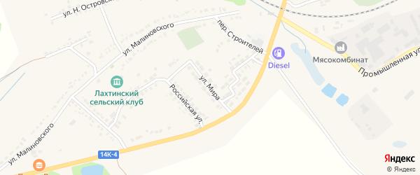 Улица Мира на карте поселка Томаровка с номерами домов