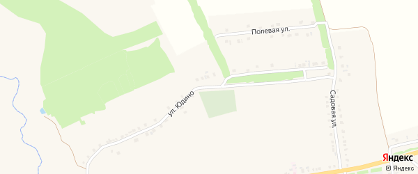 Улица Юдино на карте села Вознесеновки с номерами домов