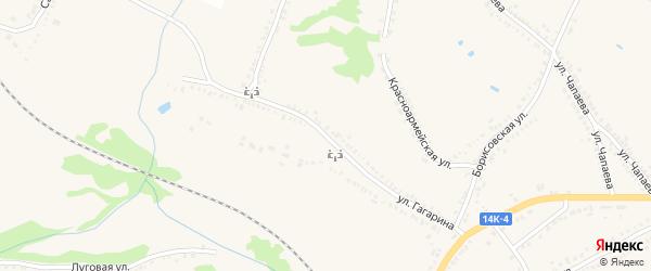 Улица Гагарина на карте поселка Томаровка с номерами домов