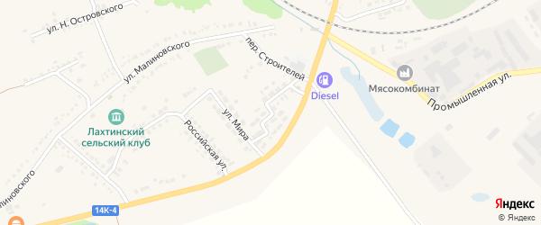 Улица Строителей на карте поселка Томаровка с номерами домов