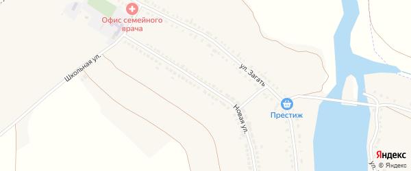 Новая улица на карте села Курасовки с номерами домов
