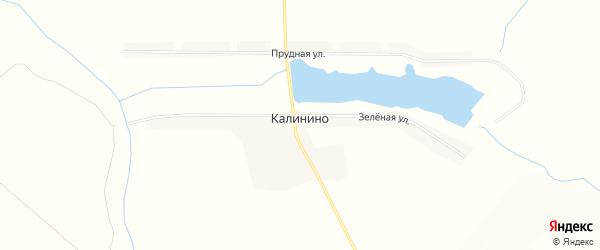 Карта села Калинино в Белгородской области с улицами и номерами домов