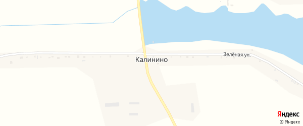 Зеленая улица на карте села Калинино с номерами домов