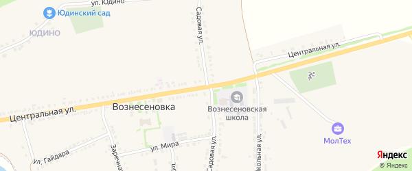 Садовая улица на карте села Вознесеновки с номерами домов