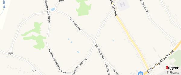 Улица Чапаева на карте поселка Томаровка с номерами домов