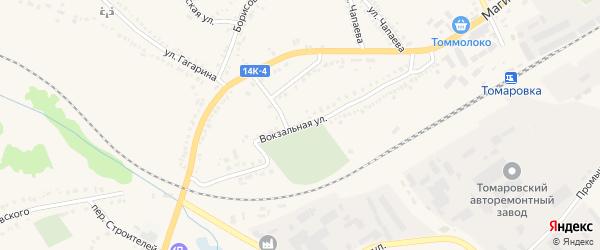 Вокзальная улица на карте поселка Томаровка с номерами домов