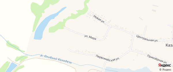 Улица Мира на карте Казацкого села с номерами домов