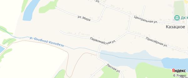 Первомайская улица на карте Казацкого села с номерами домов
