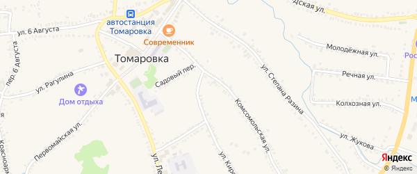 Полевая улица на карте поселка Томаровка с номерами домов