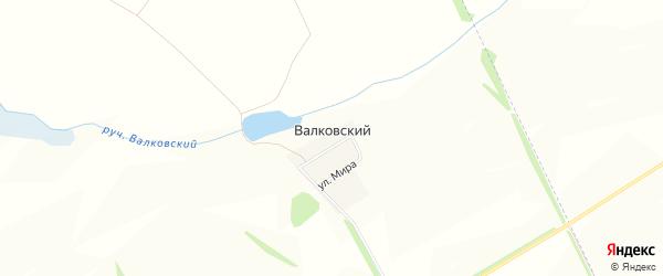 Карта Валковского хутора в Белгородской области с улицами и номерами домов